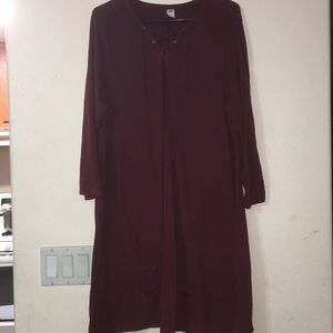 Old Navy A-line long sleeve T-shirt dress XXL